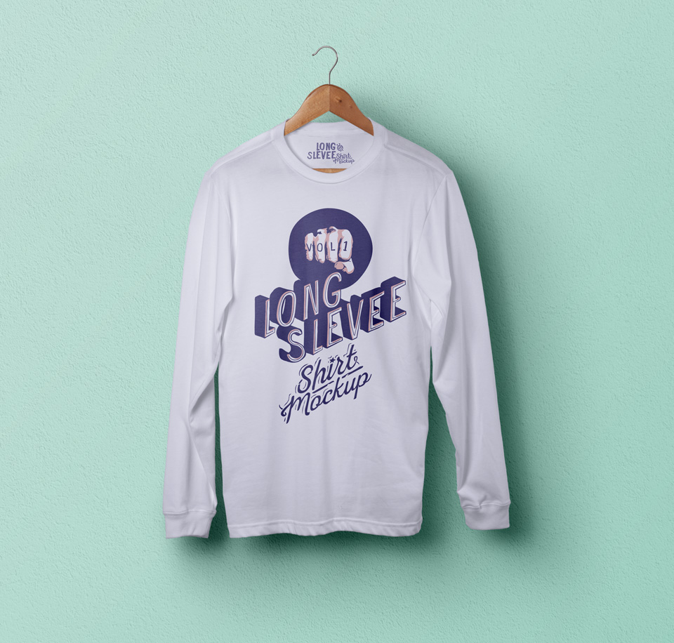 PSD Long Sleeve T-Shirt Mockup Vol1