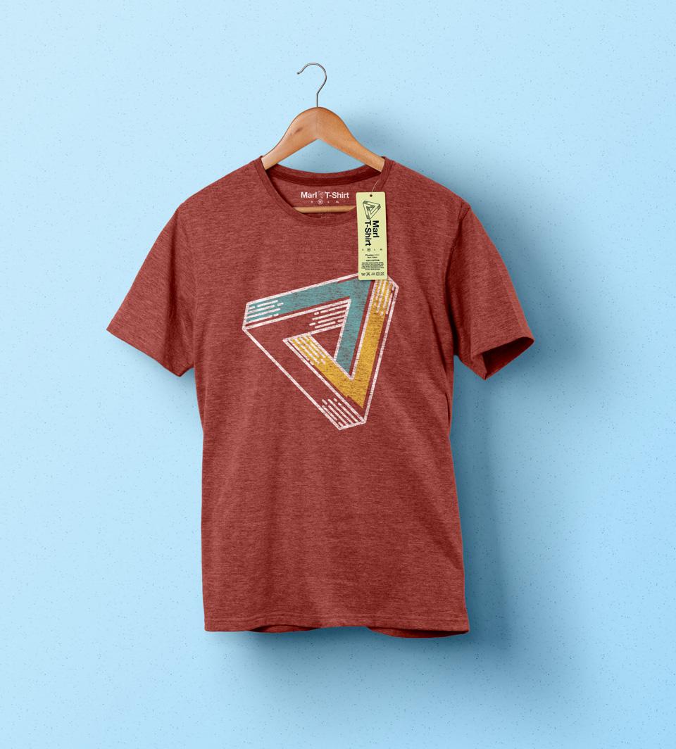 Psd Marl T-shirt Mockup Vol1