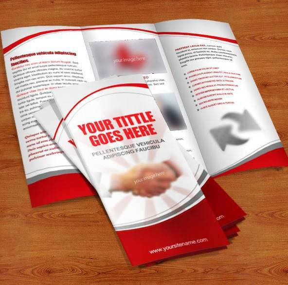Tri Fold Brochure PSD Template (Free)