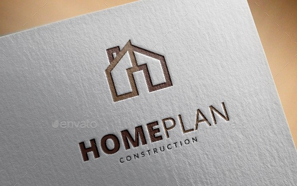 Home Plan Logo Template