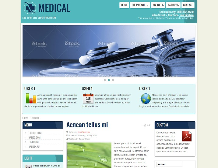 Medical, Health, Doctor Free Responsive Joomla Template