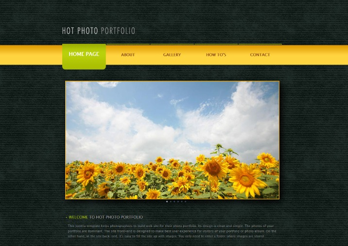 Hot Photo Portfolio - Joomla Portfolio Template