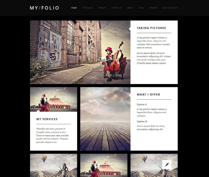MY FOLIO - Responsive Photography Joomla Template