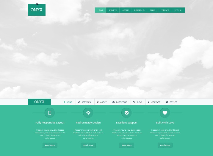 Onyx - Single Page Responsive Joomla Template