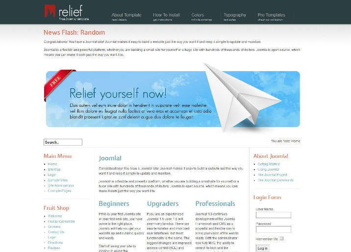 Hot Relief - Free Joomla template