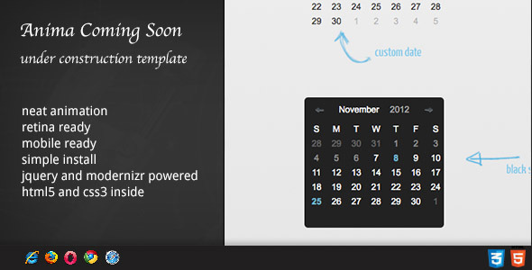 DZS jQuery Mini Events Calendar