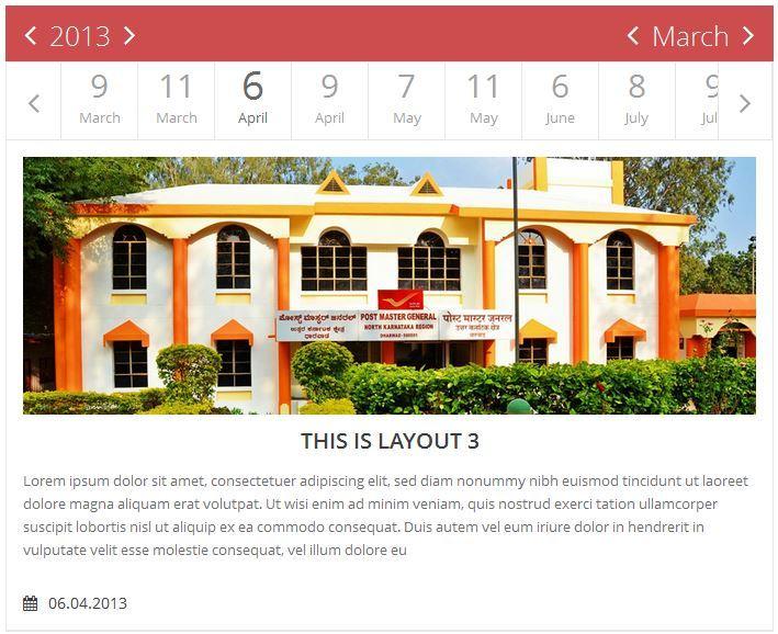 jQuery Flat Event Calendar Timeline