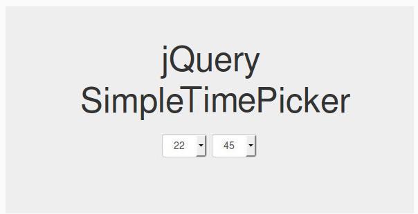 jQuery simpleTimePicker