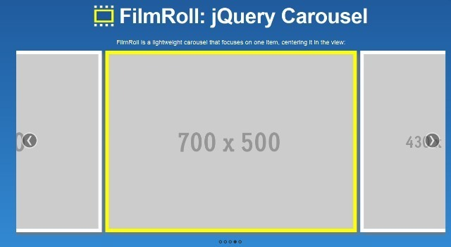 FilmRoll jQuery Carousel Slider Plugin