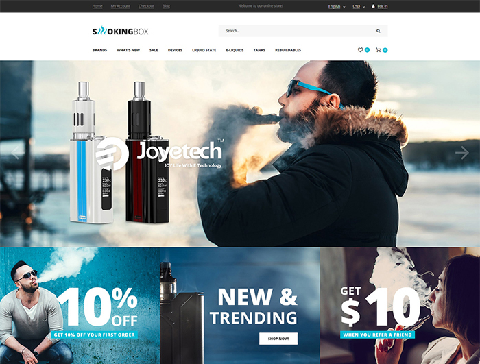 Tobacco Responsive OpenCart Template