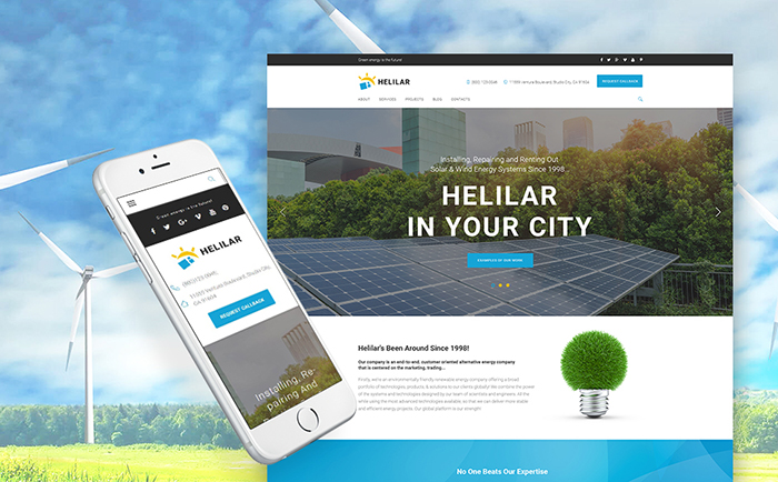 Helilar - Solar & Renewable Energy WordPress Theme