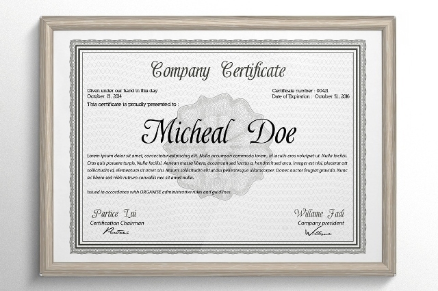 certificate or diploma templates