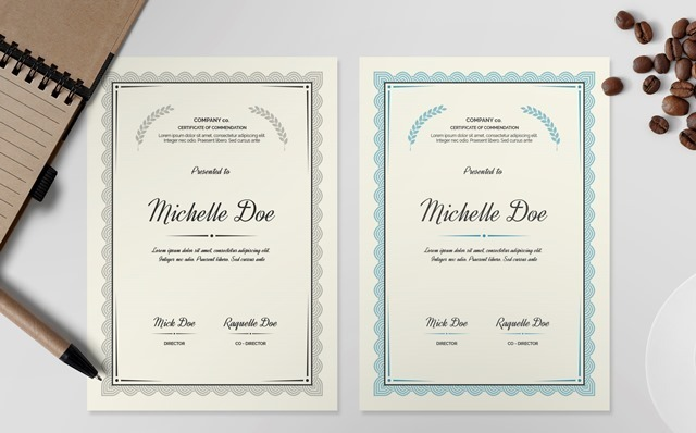 Certificate Template I