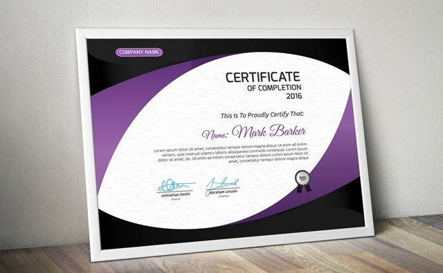 20 Free and Premium PSD Certificate Templates Webprecis – Editable Certificate Templates