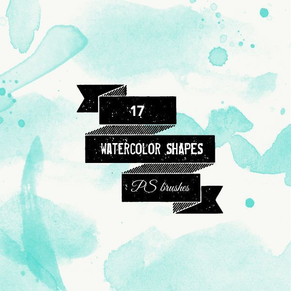 Watercolor Shapes and Splatters Brushes