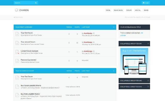 Charon Bootstrap 3 Responsive phpBB3 Theme