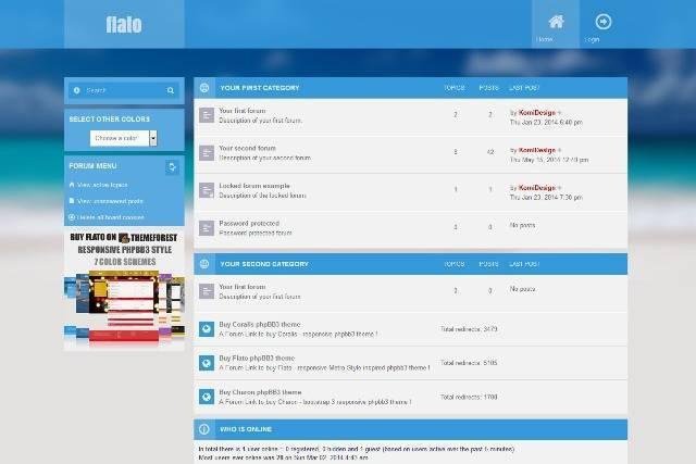 Flato Metro Inspired Responsive phpBB3 Theme