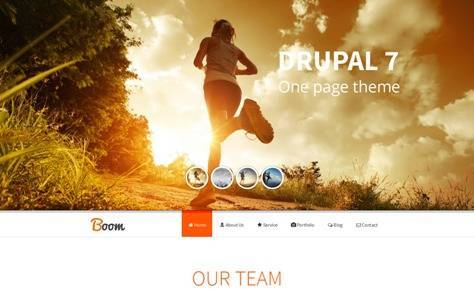 Boom Responsive Onepage Drupal Theme