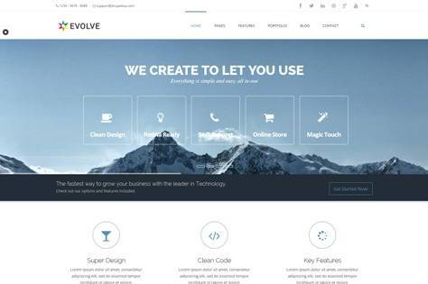Evolve MultiPurpose, Creative Drupal Theme