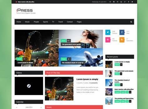 iPress Responsive News/Magazine Drupal theme