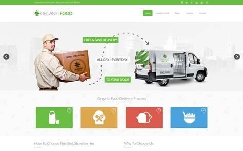 Organic Food Responsive Drupal Theme