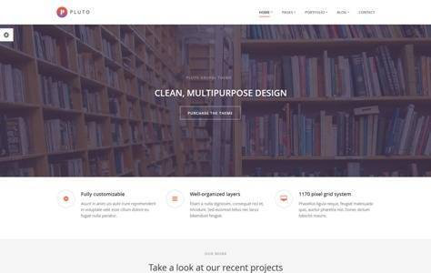 Pluto Creative Onepage & MutiPages Drupal Theme