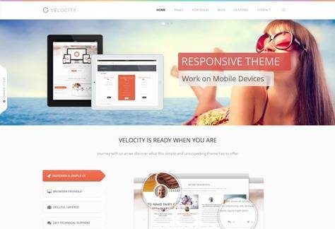 Velocity Feature Rich Drupal Theme