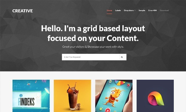 Creative Clean and Responsive Blogger Template