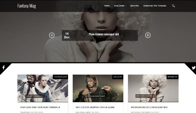 Fantasy Mag Responsive Blogger Template