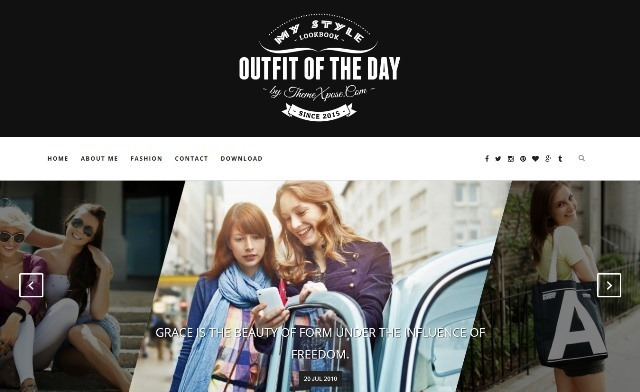 Outfit Clean and Responsive Blogger Template