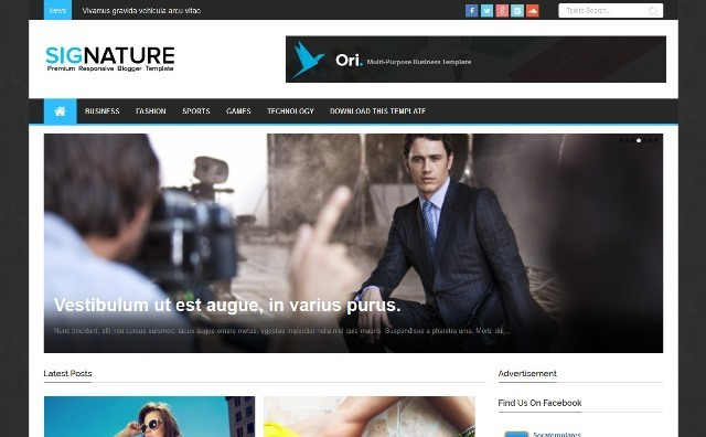 Signature Responsive Blogger Template