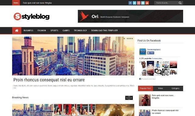 Style Blog Blogger Template