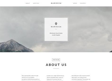 Barossa Versatile One Page Joomla Template