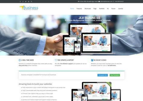 Business Joomla business template