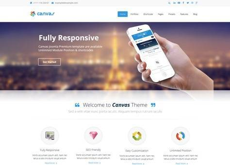 Canvas Responsive Joomla Corporate Template