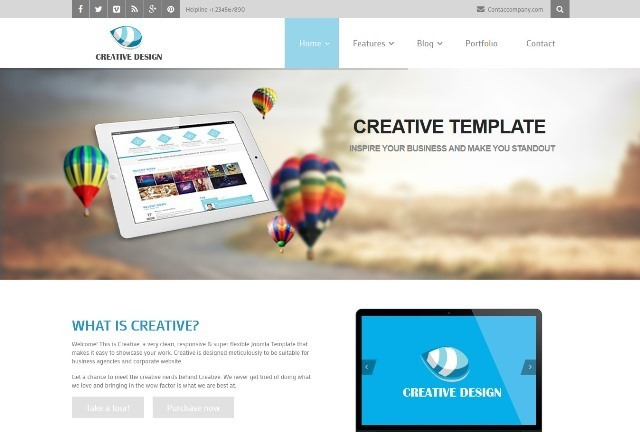 Creative Responsive Corporate Joomla Template