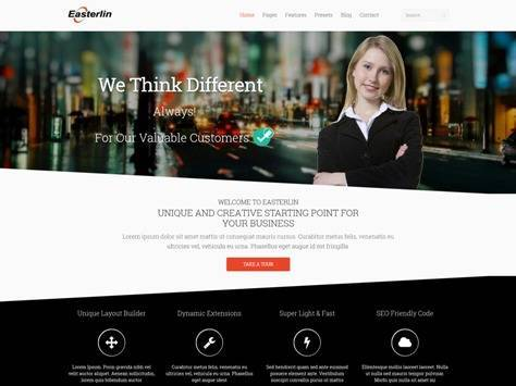 Easterlin Responsive Joomla Business Template