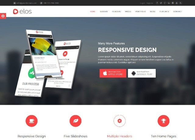 Elos Responsive MultiPurpose Joomla Theme