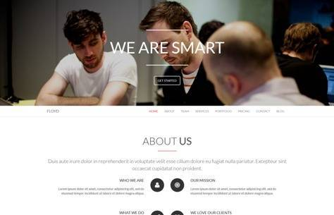 Floyd One Page Parallax Joomla Template