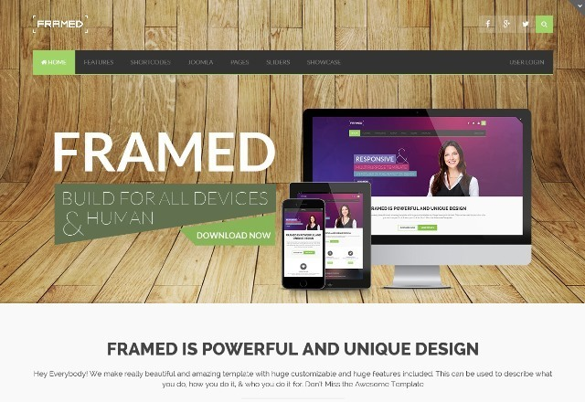 Framed Multi-purpose Joomla Template