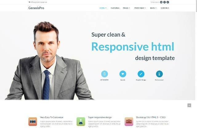 Genesis Corporate Joomla Template