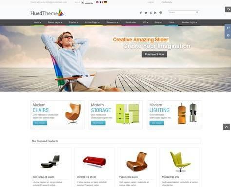 HuedTheme Responsive Virtuemart Joomla Template