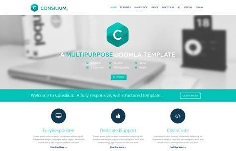JM Consilium Responsive Joomla Template