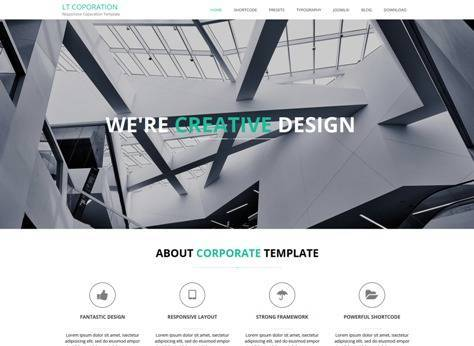 LT Corporation App Showcase Joomla template