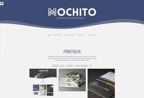 Mochito One Page Portfolio Joomla template