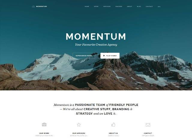 Momentum Simple Creative OnePage Joomla Template