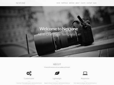 Nextone One & Multi Page Joomla Template