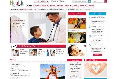 SJ Health Magazine Responsive Joomla! Template