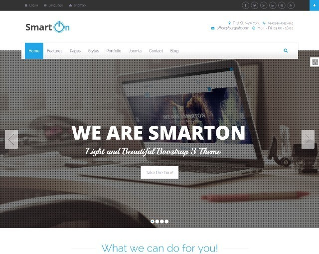 SmartOn Multi-Purpose Ultimate Joomla Theme