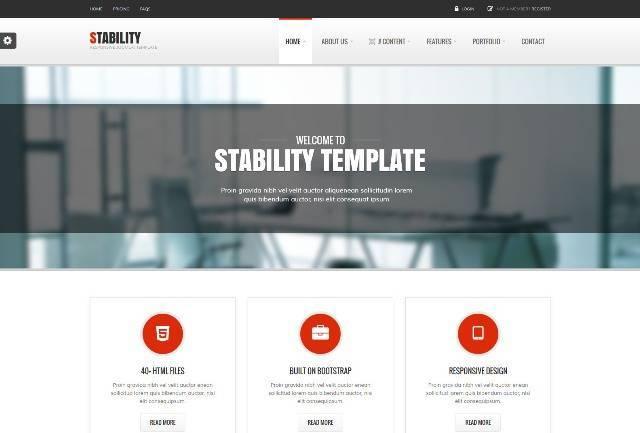 Stability Responsive Joomla! Template